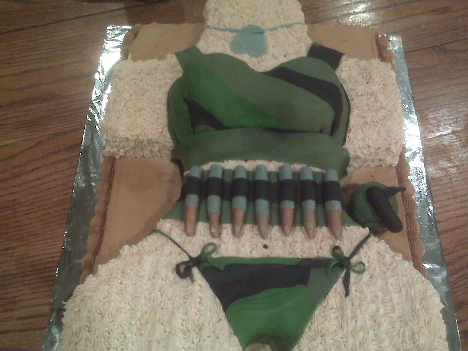 Camo grooms cake