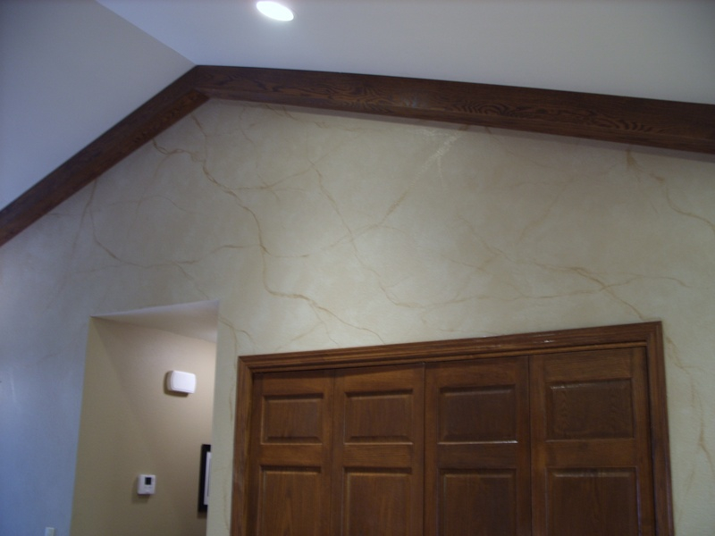 color wash with veining