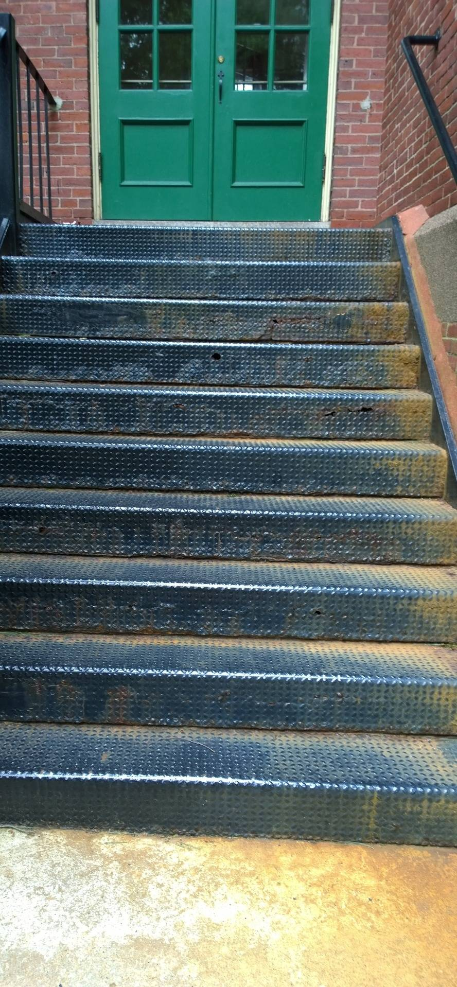 Before Image 1: Color Galvanized Staircase Replacement