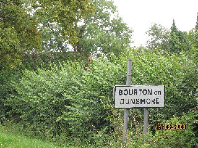 Sign to Bourton on Dunsmore