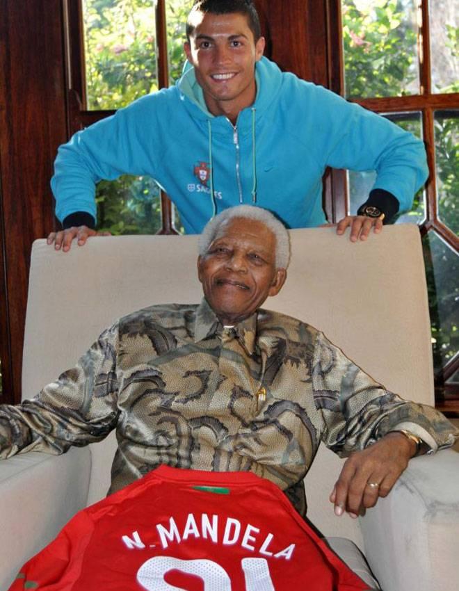 Mandela and Ronaldo