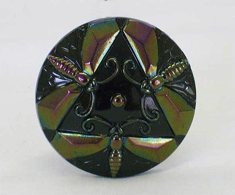 Dragonflies hatpin, dark