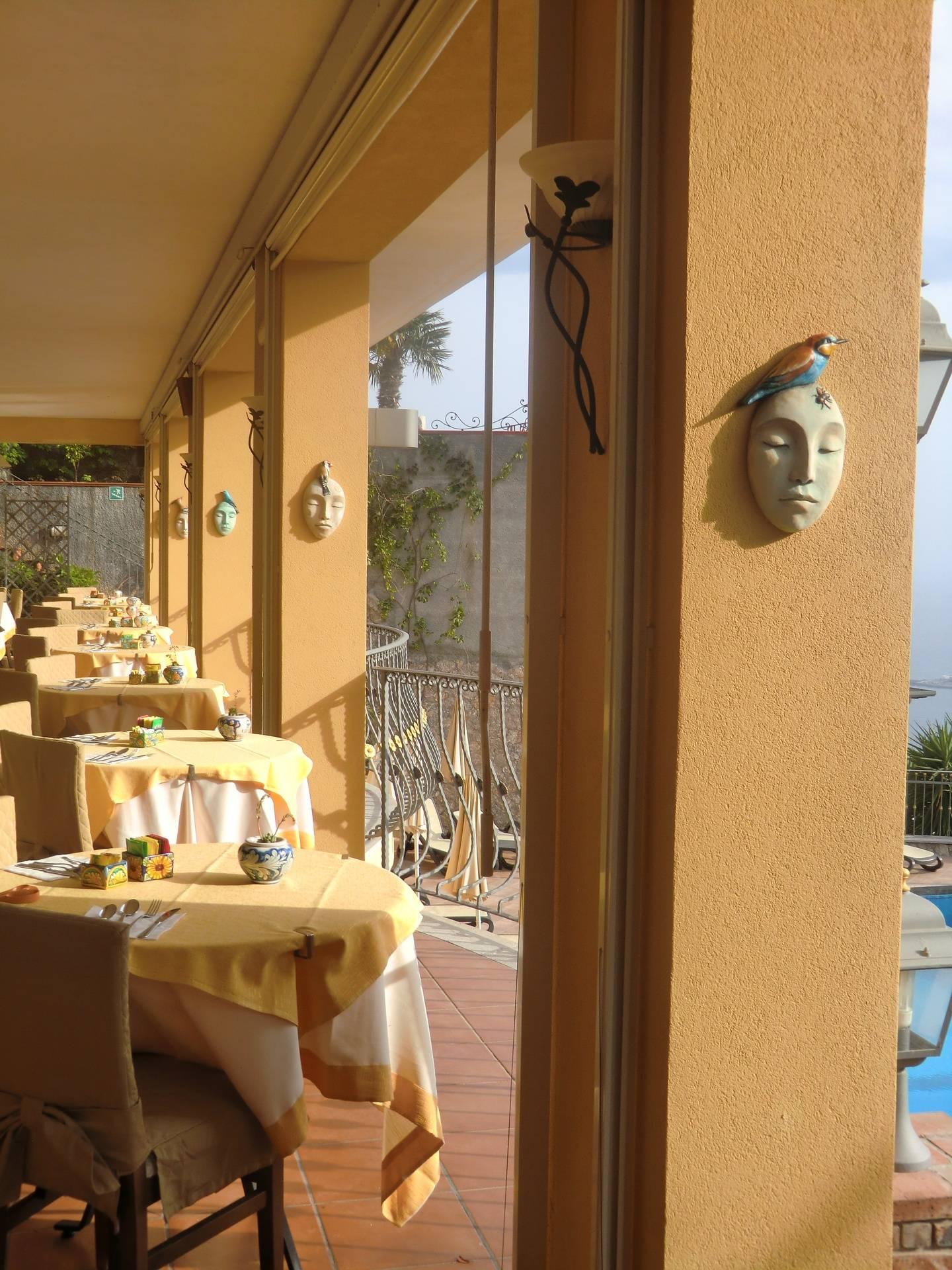 Villa Angela sculptures in Sicily