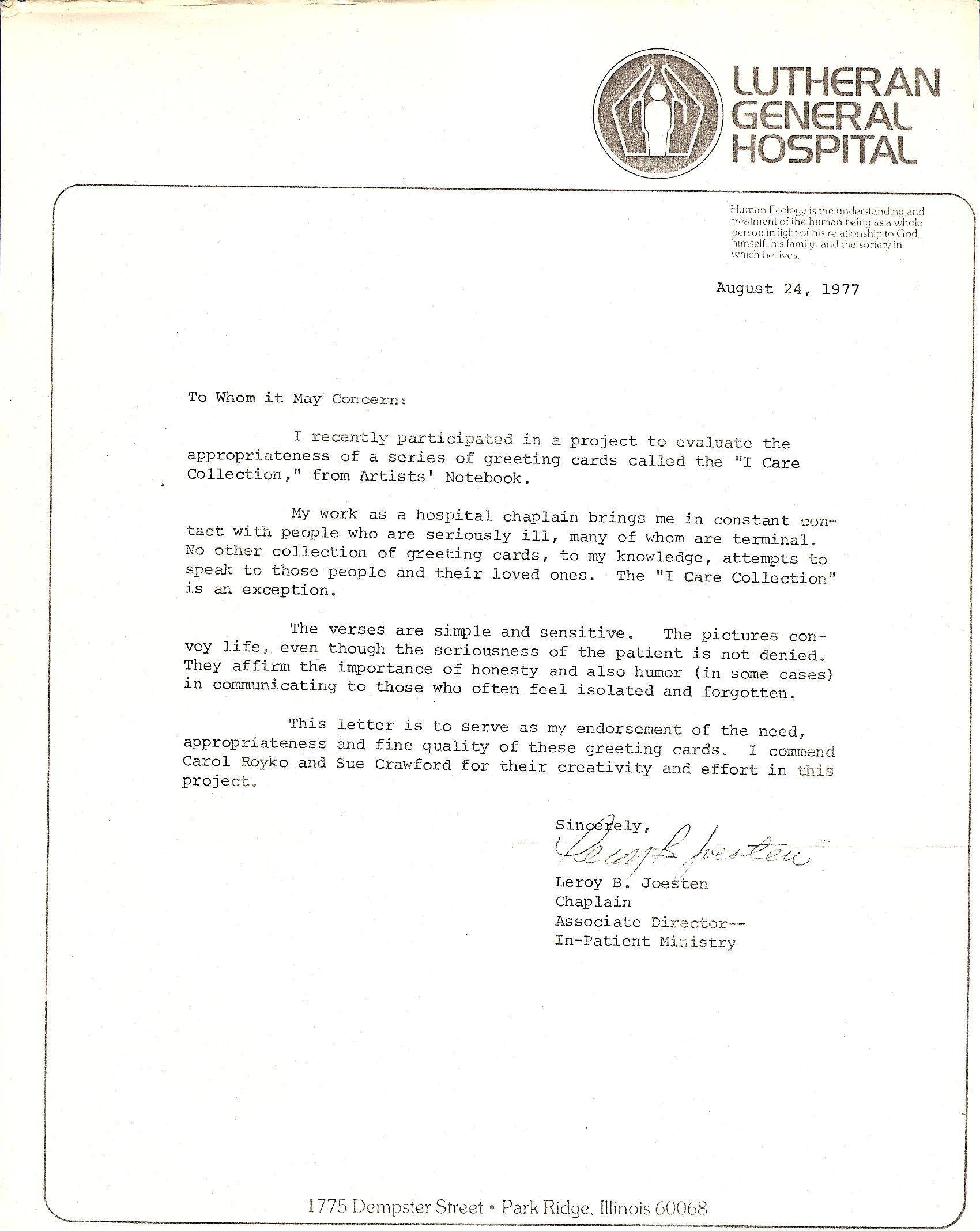 Lutheran General Hospital, Park Ridge, Illinois