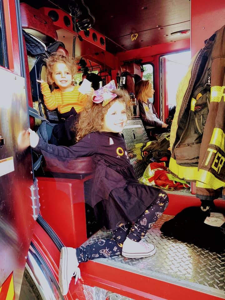 A peak inside the fire truck