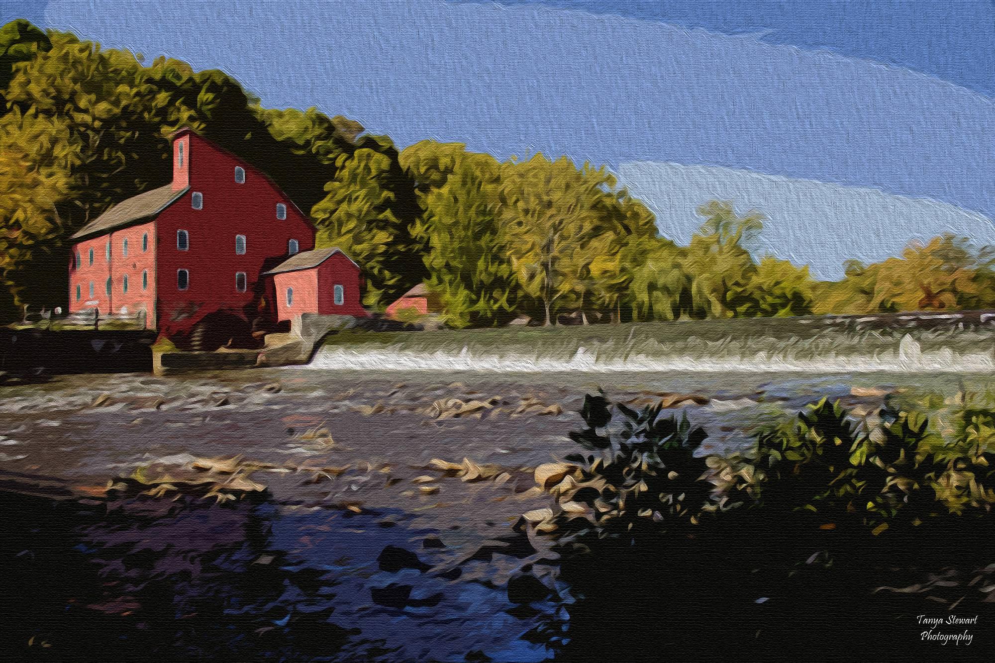 Clinton NJ Mill Oil Painting
