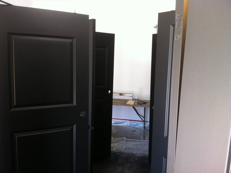 (Spraying Paint) Interior doors and trims