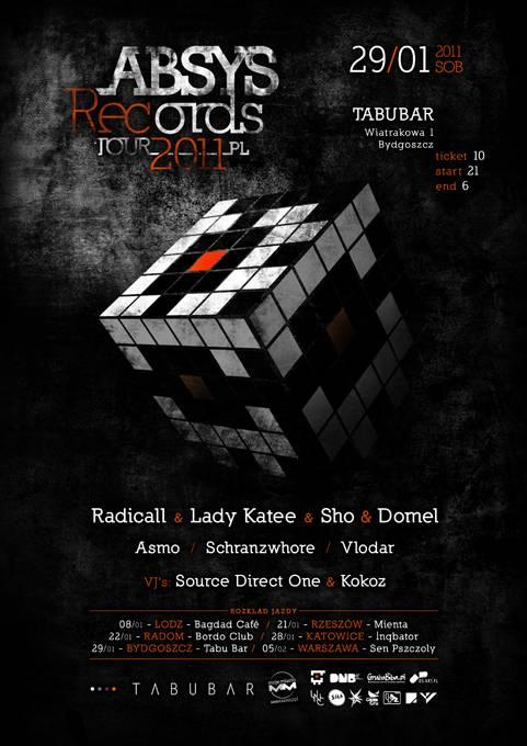 2011.01.29 - Tabu Bar - Bydgoszcz  - Absys Records Tour 2011