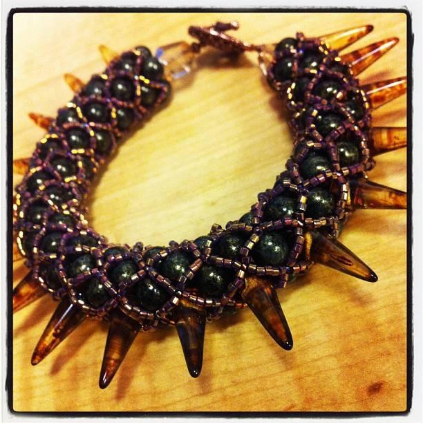 Netted Spike Bracelet