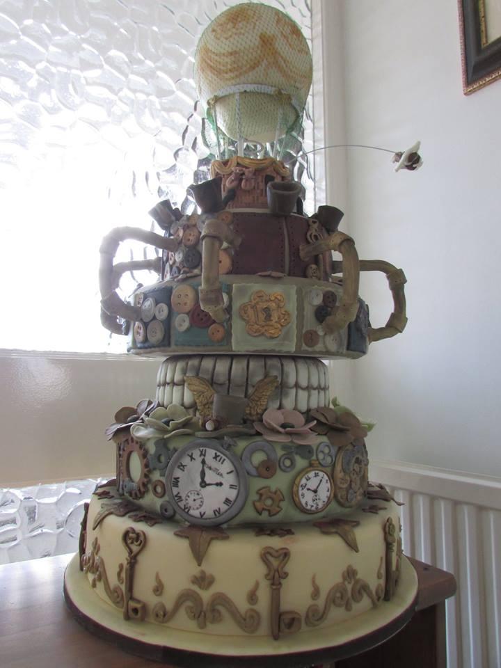 Steampunk Balloon Cake