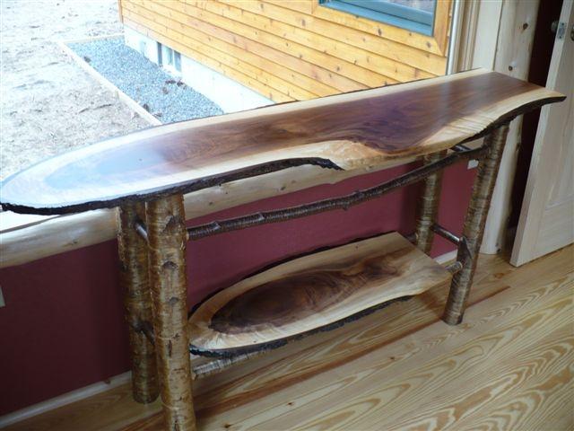Black Walnut Sofa Table