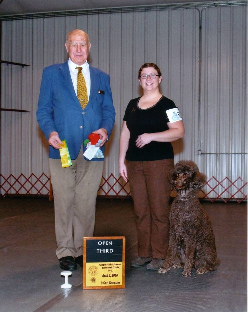 Penny winning Open A third place.  4/3/10.