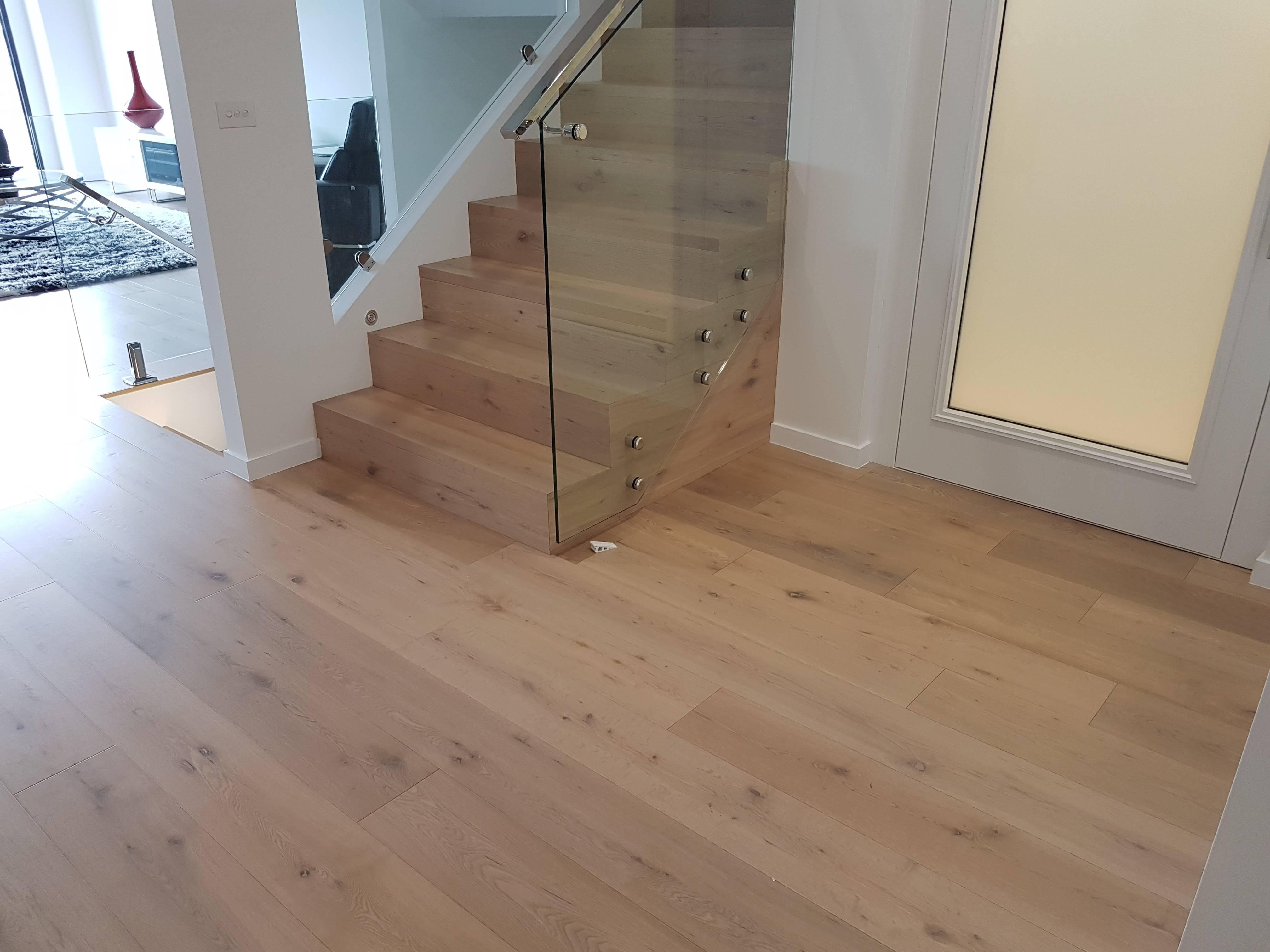 Oak flooring & staircase