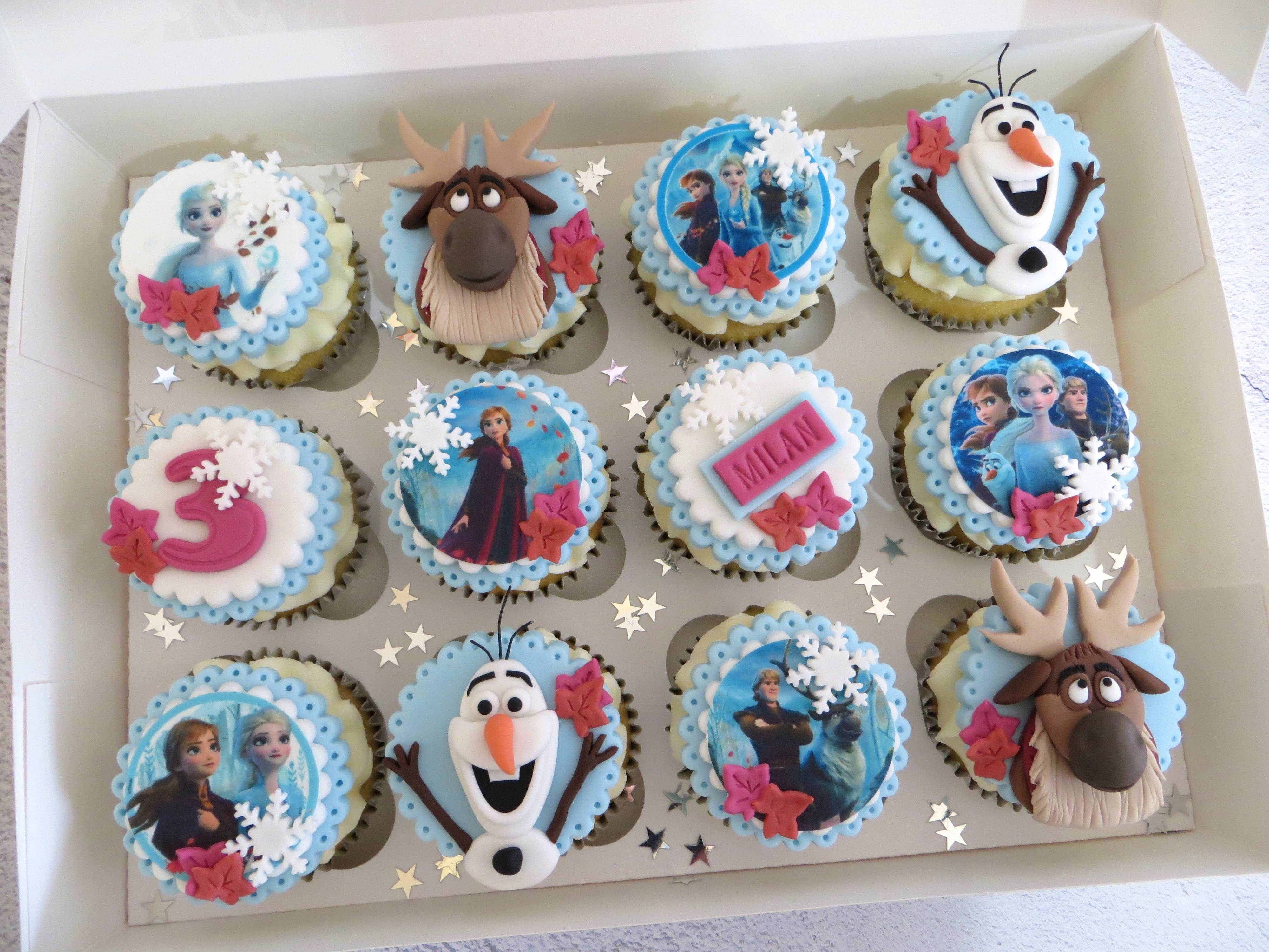 Milan's Birthday Cupcakes