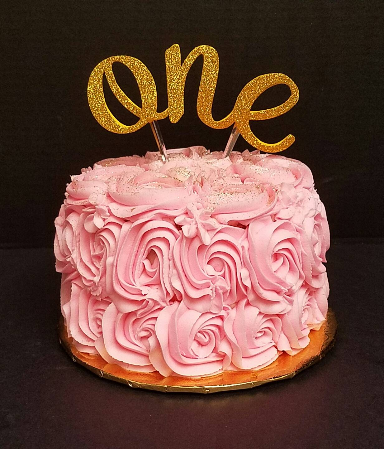 """Pink Rosette """"One"""""""