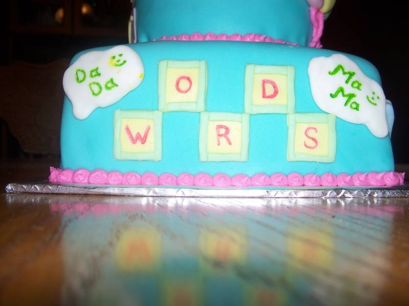 Baby's First Words Cake