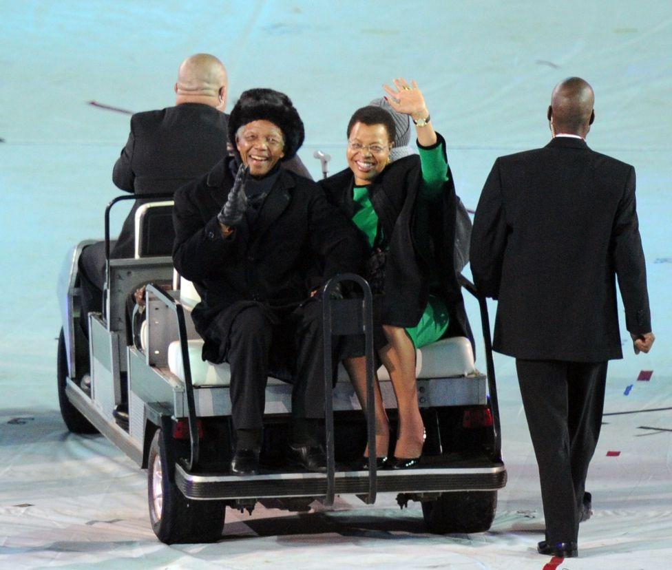 Mandela and Graca Machel
