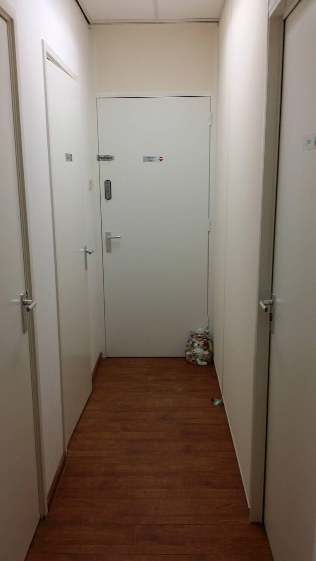 De hal bij de 2 toiletten en de doucheruimte...