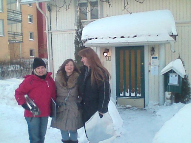 Outside Pamelas office