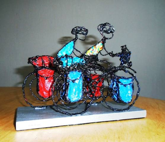 wereldreizgers op de fiets