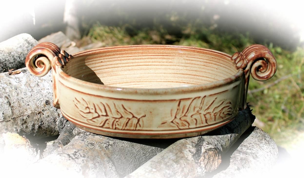 Oval Fern Leaf Open Baker