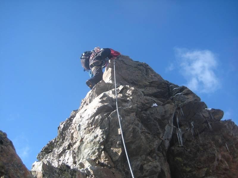 Climbing Piz Bernina
