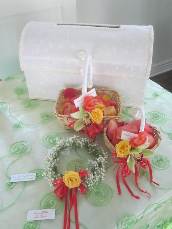 Flower Girls' Baskets & Headpiece for Flower Girl