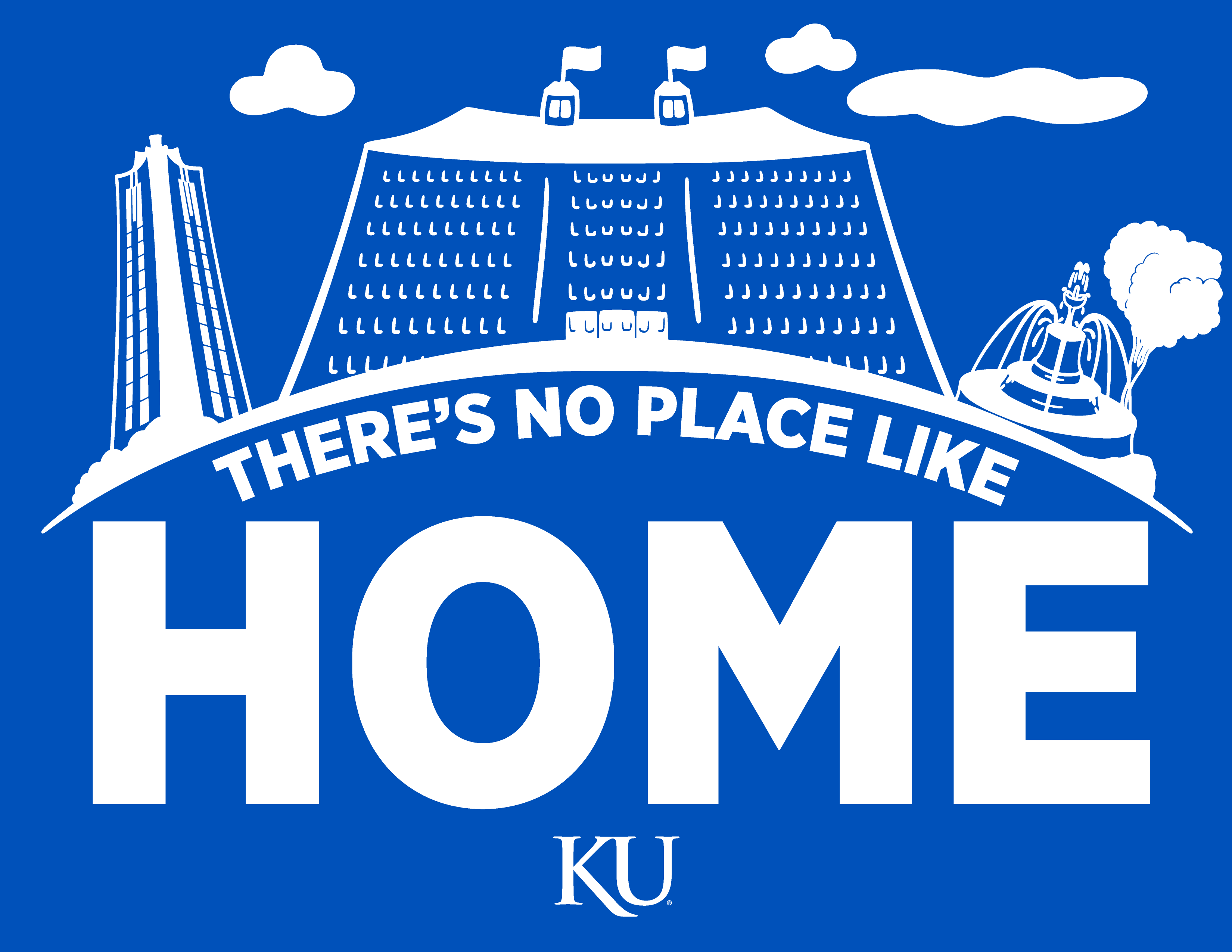 KU Campus Skyline - There's No Place Like Home - '47 T-Shirt Graphic