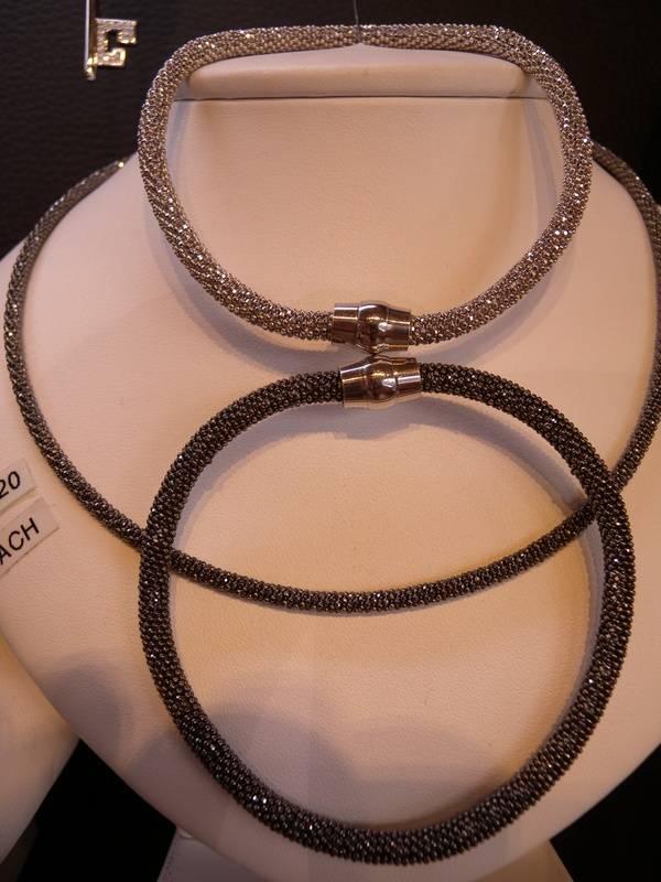 Silver Mesh Bracelets and Necklace