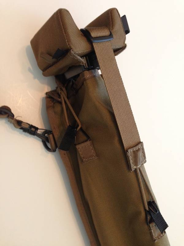 tripod with SSP-1 in secured in scabbard