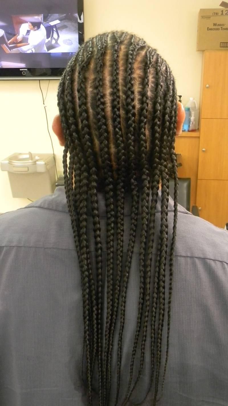 Straight back Corn Row Braids