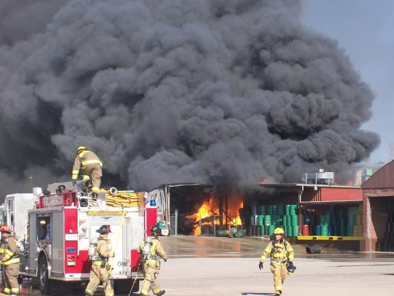 Barton Solvents Fire 10-29-07