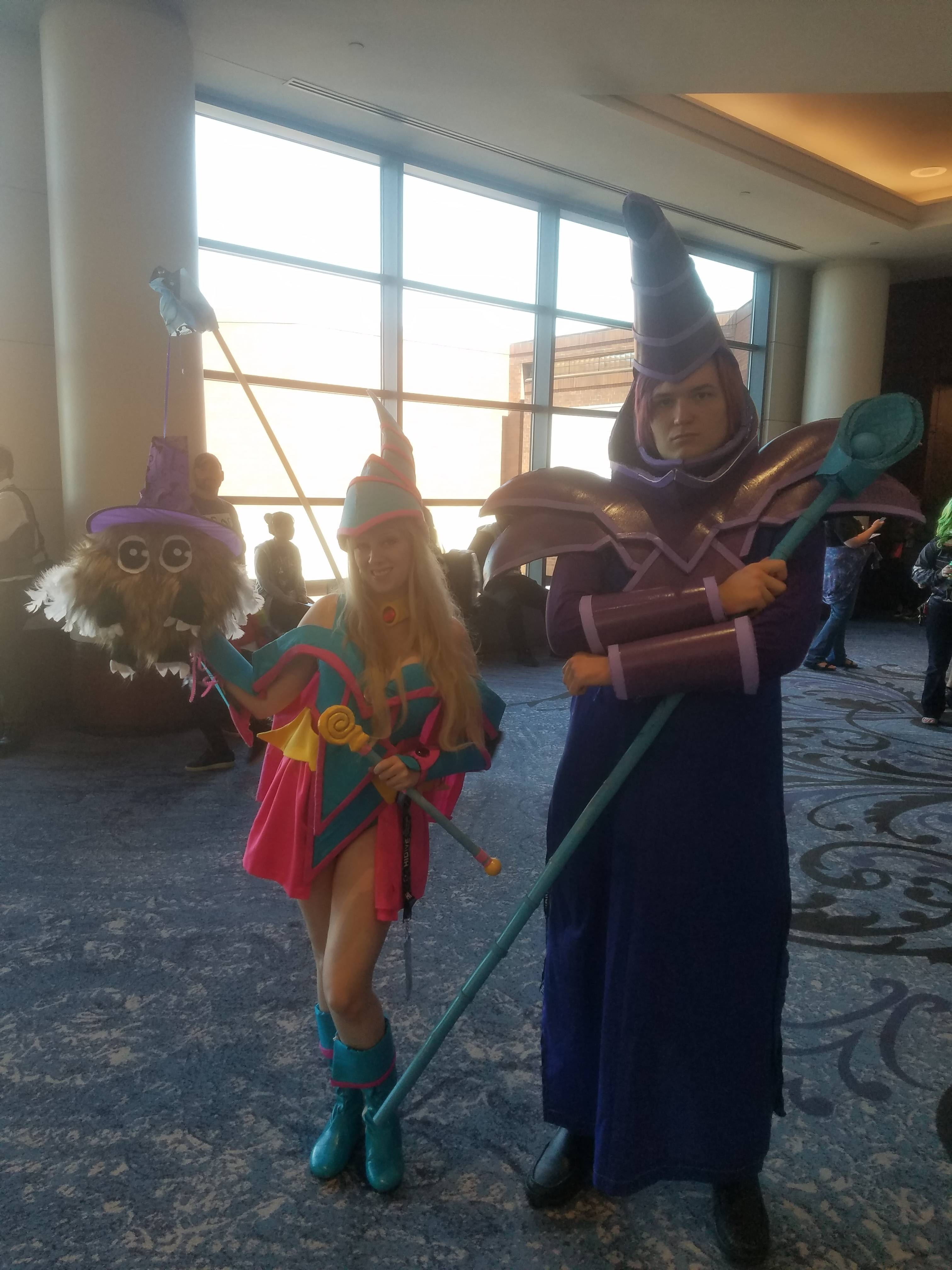 Dark Magician, Dark Magician Girl, and Kuriboh