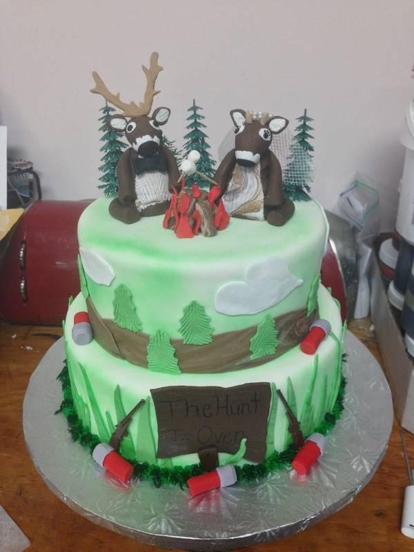 Hunt is over Wedding Shower Cake