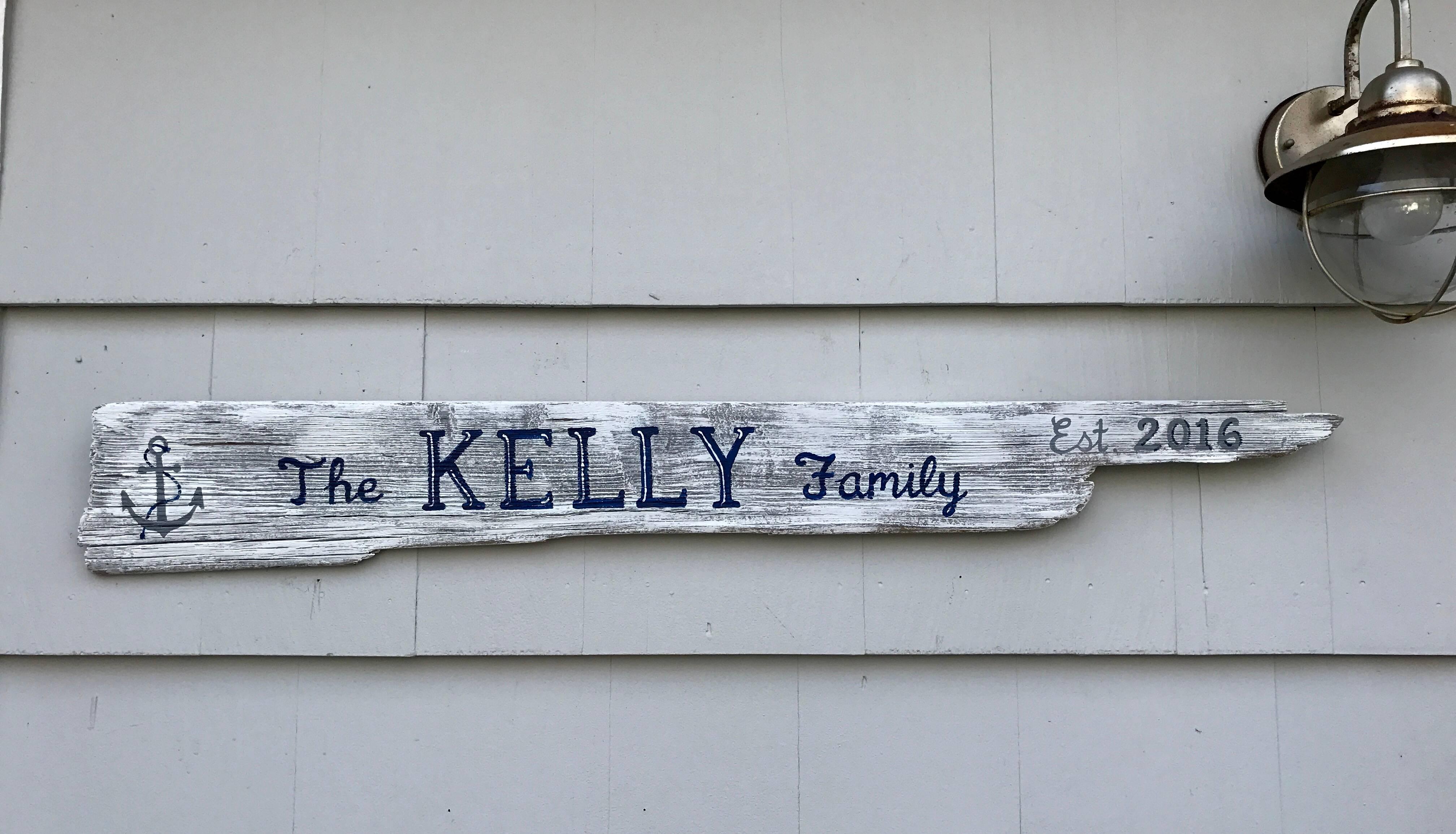Family Est. sign
