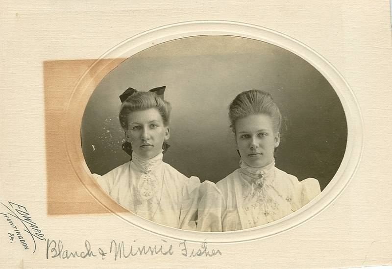 Sarah Blanche and Minnie Fisher