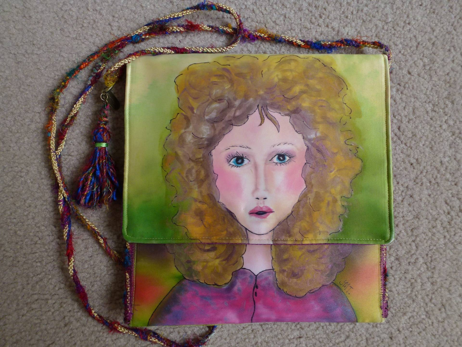 Painted bag