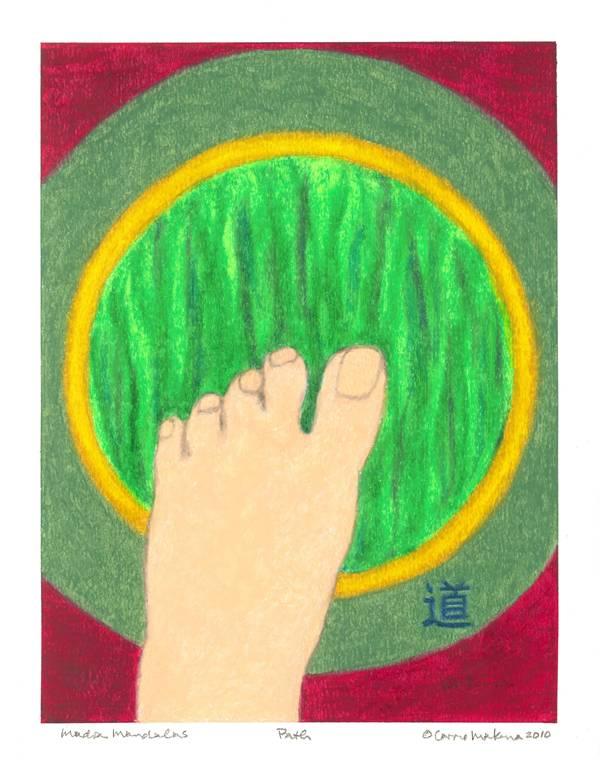 The Path Mudra Mandal, Oil Pastel, 11x14, Original Sold