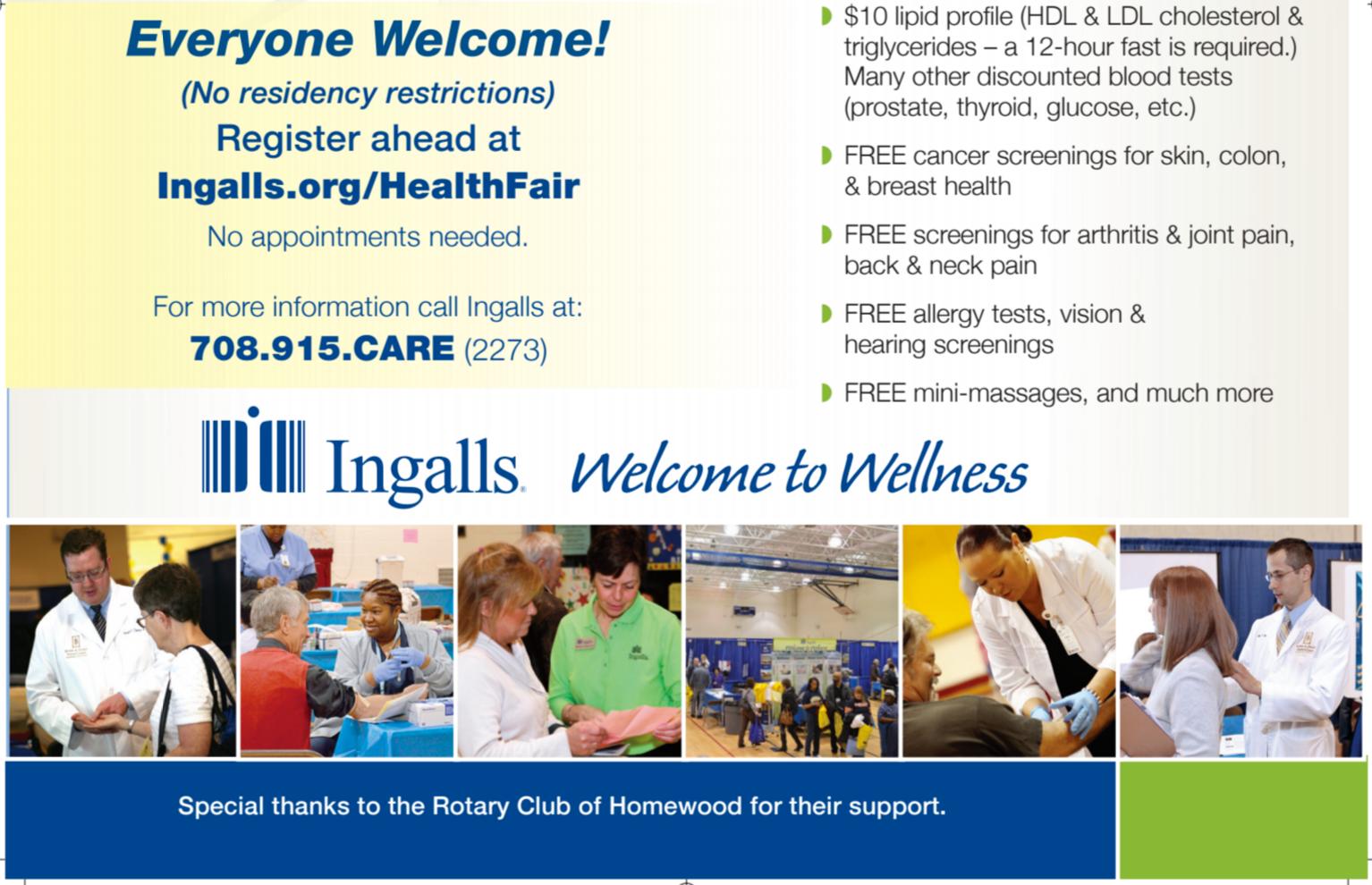 Ingalls Memorial Hospital Health Fair