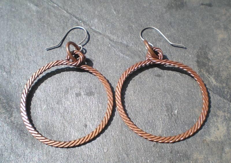 Twisted Wire Earrings.