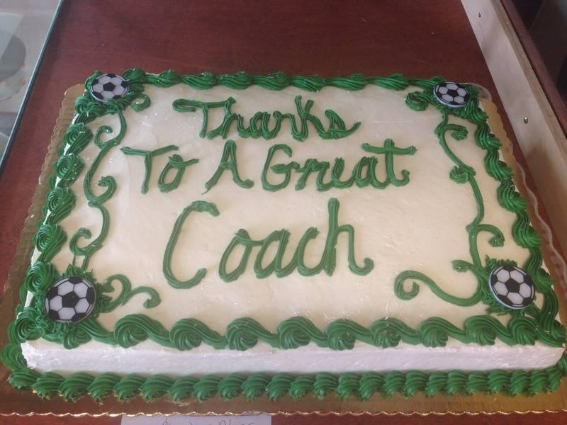 Soccer Coach Cake