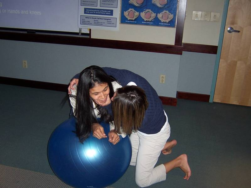 Role Play with birth ball