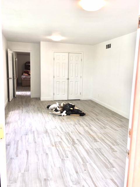 updated bedroom in basement