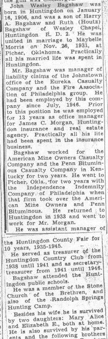 Bagshaw, John W. - Part 1 - 1955