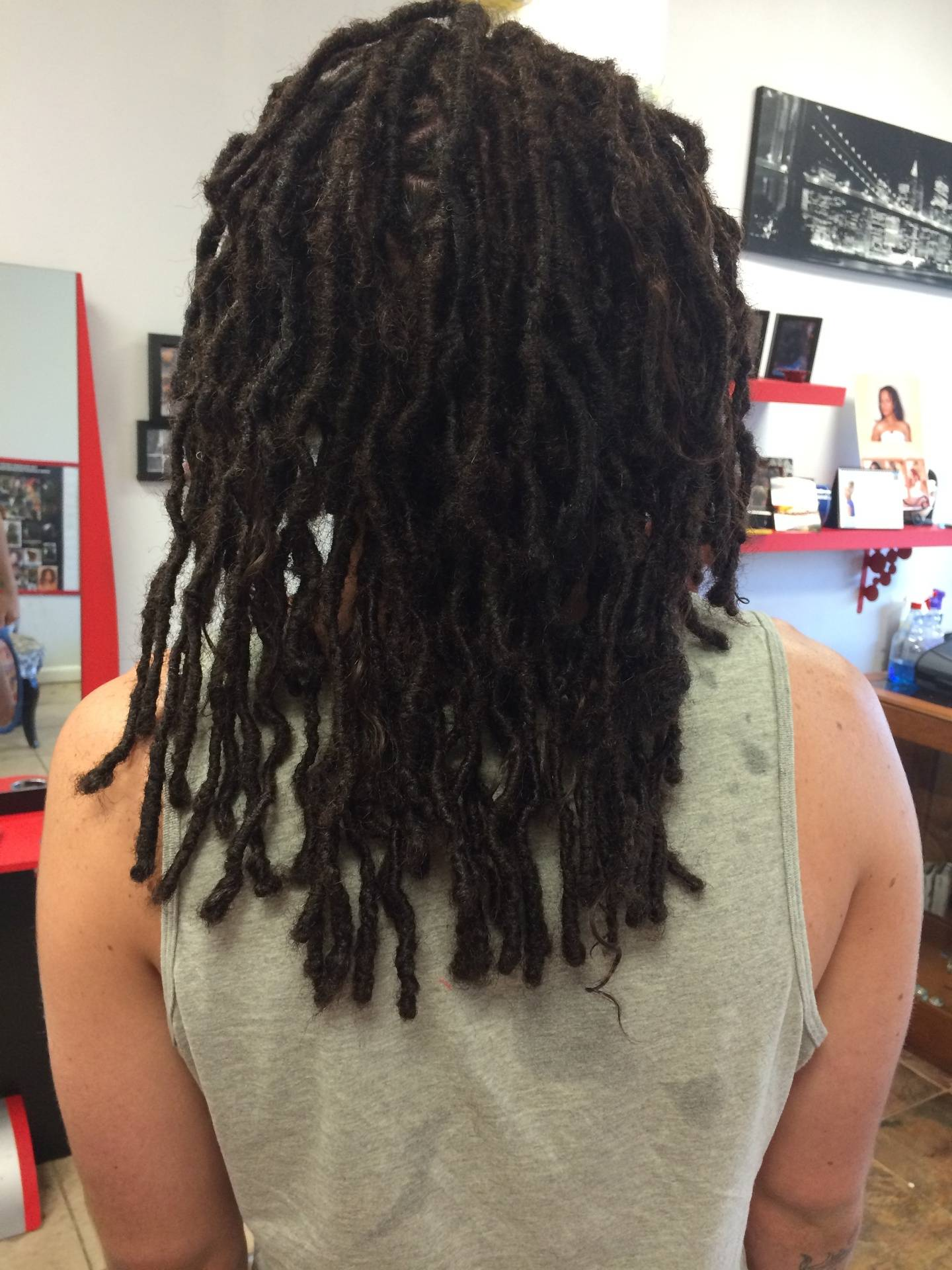 Dread Extensions on Caucasian Hair