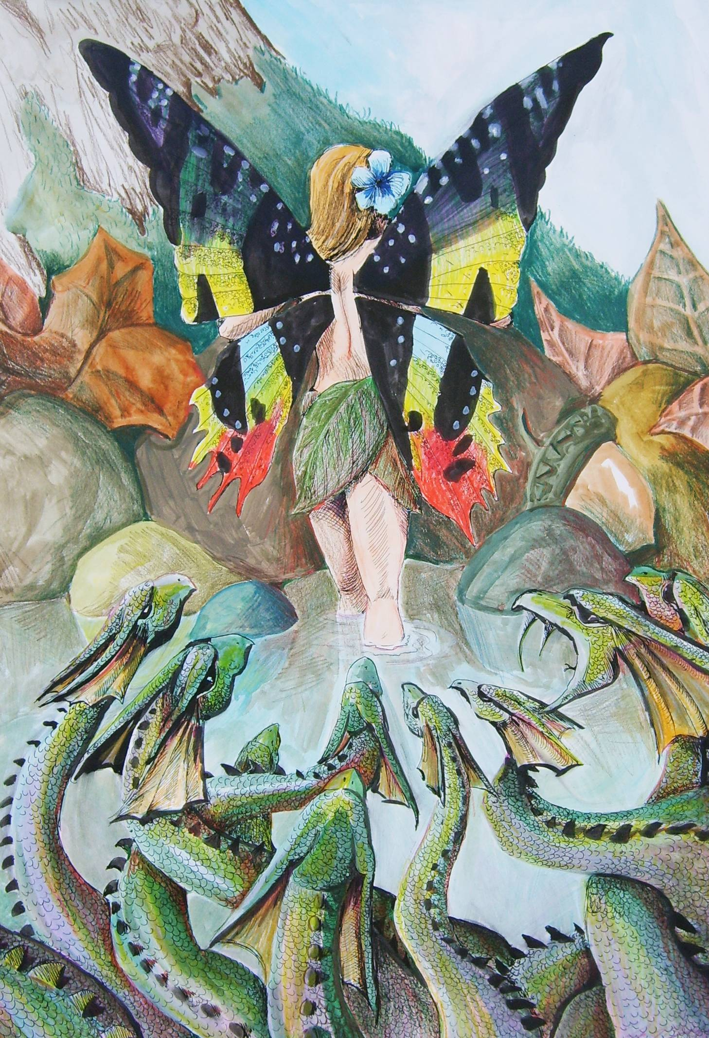 Fairy and Snakes