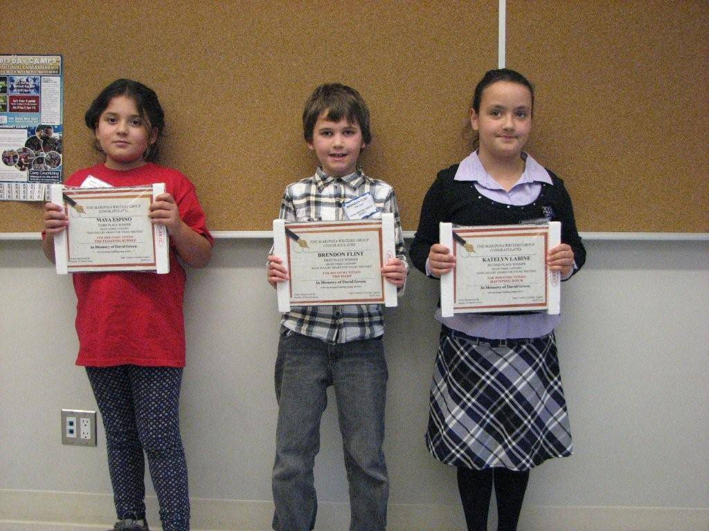 Grade Three Winners April, 2013