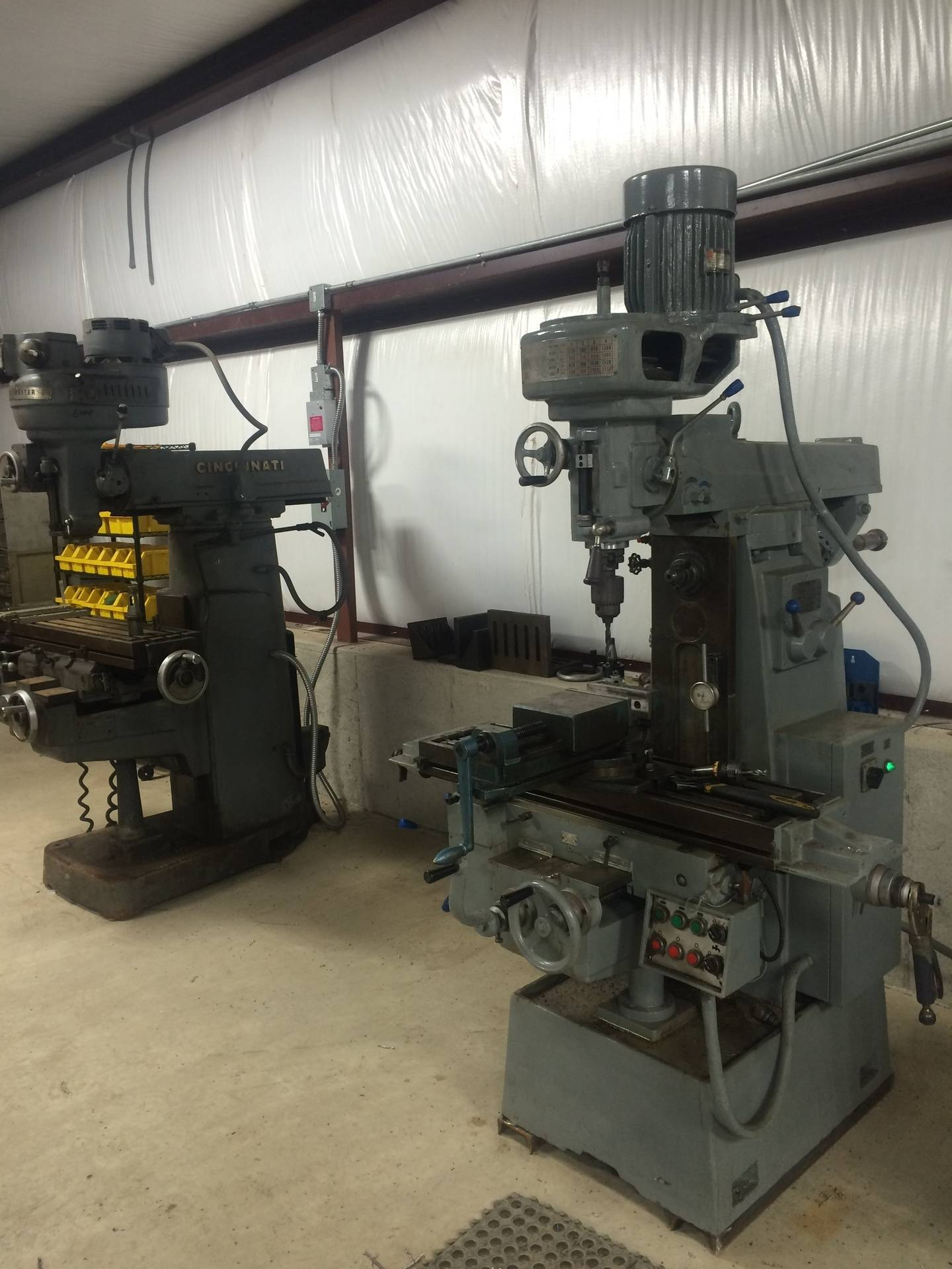 """Shop Tooling-10""""x42"""" Vertical Mill"""