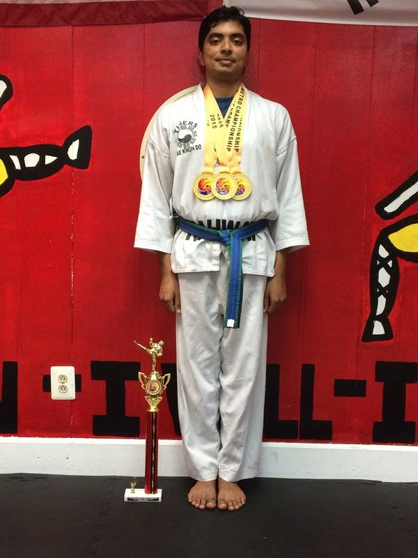 06/7/2015 Metro Open TKD Championship  Karthik Rajagopalan  1st Place Forms 1st Place Breaking 1st Place Sparring