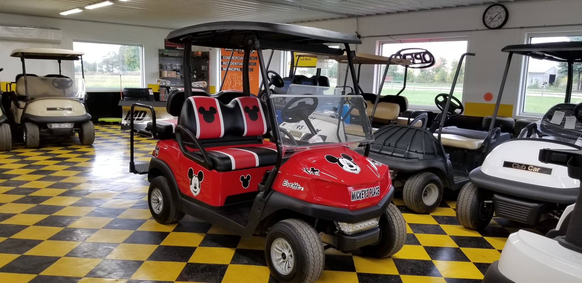 2019 Club Car Tempo Mickey Mouse Theme